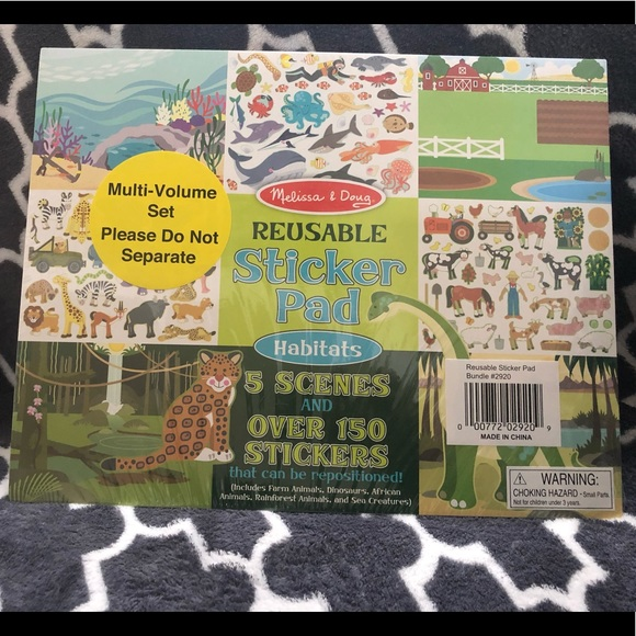 Melissa Doug Reusable Sticker Pad House Habitats Nwt